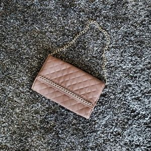 Mauve-Taupe Quilted Clutch